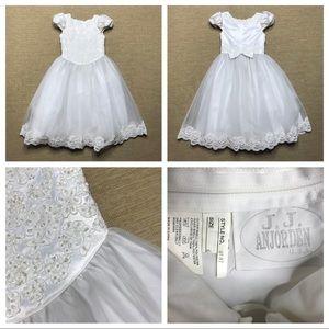Bridesmaid Dress 6 JJ Anjorden USA Communion White